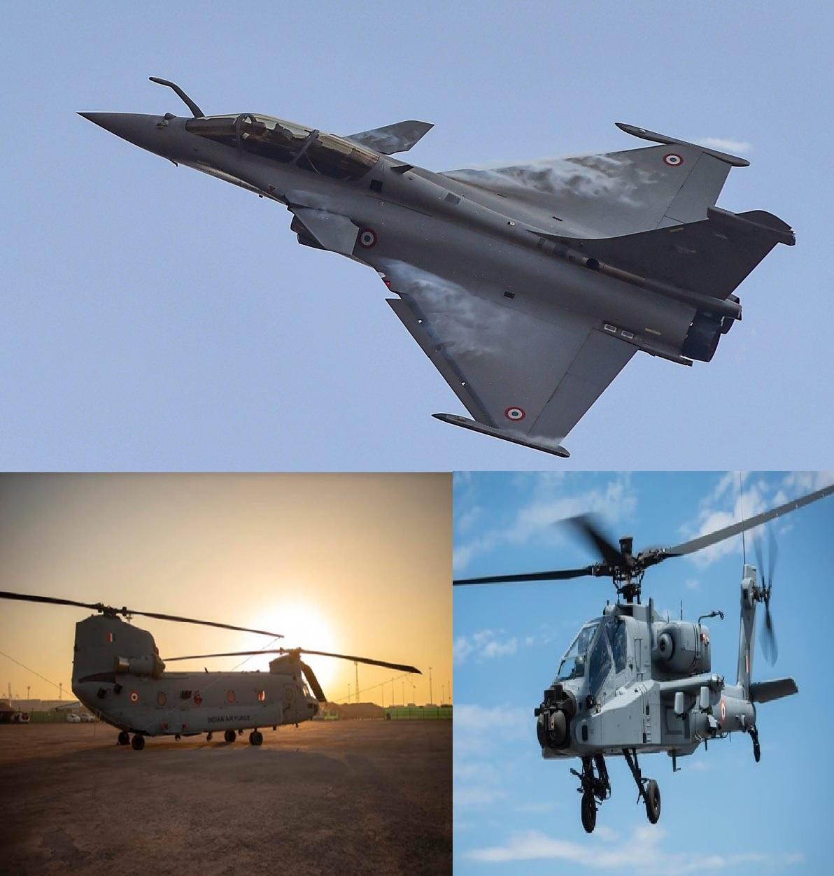 गणतंत्र दिवस परेड के लिए तैयार वायुसेना,राफेल, चिनूक और अपाचे दिखाएंगे दम