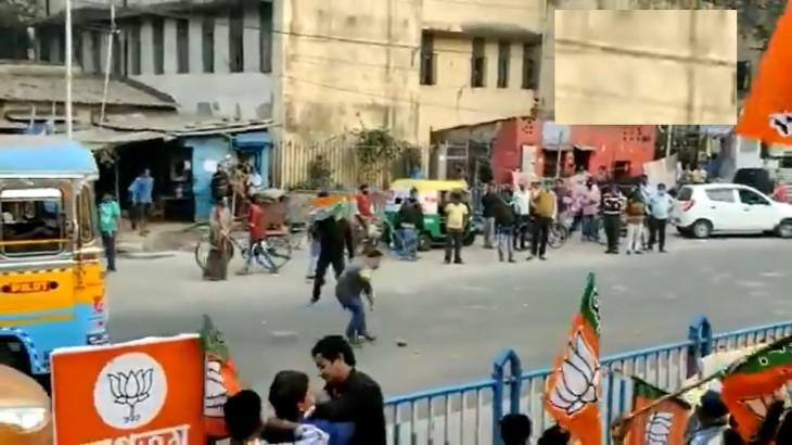 पश्चिम बंगाल में सियासी बवाल, बीजेपी और टीएमसी के कार्यकर्ताओं के बीच पथराव