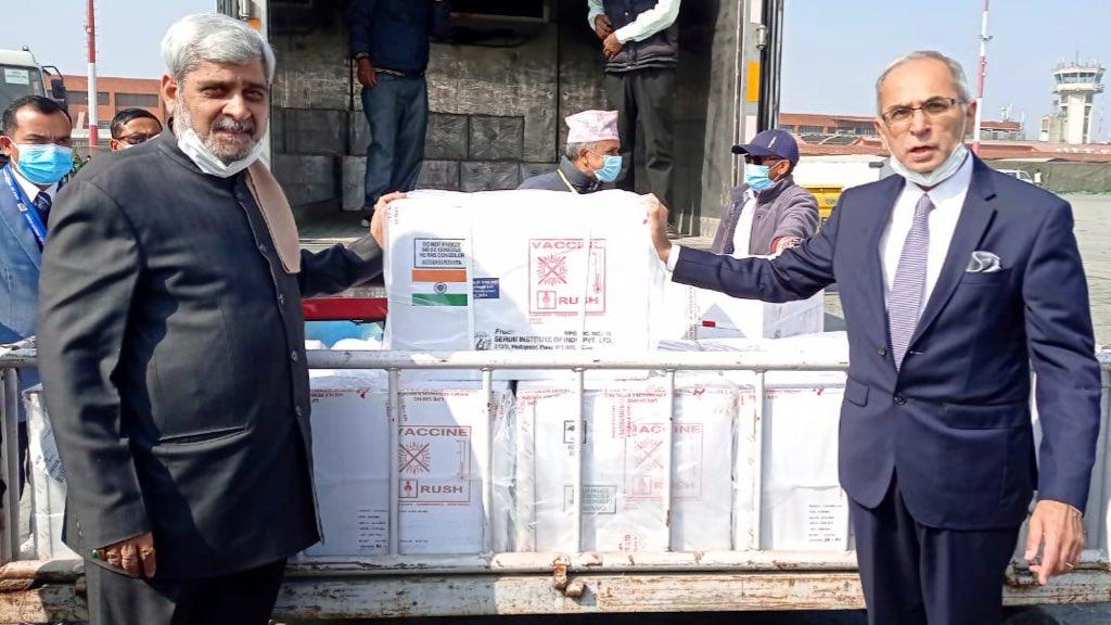 भारत ने फिर की नेपाल की मदद, 10 लाख कोविशील्ड का दिया तोहफा