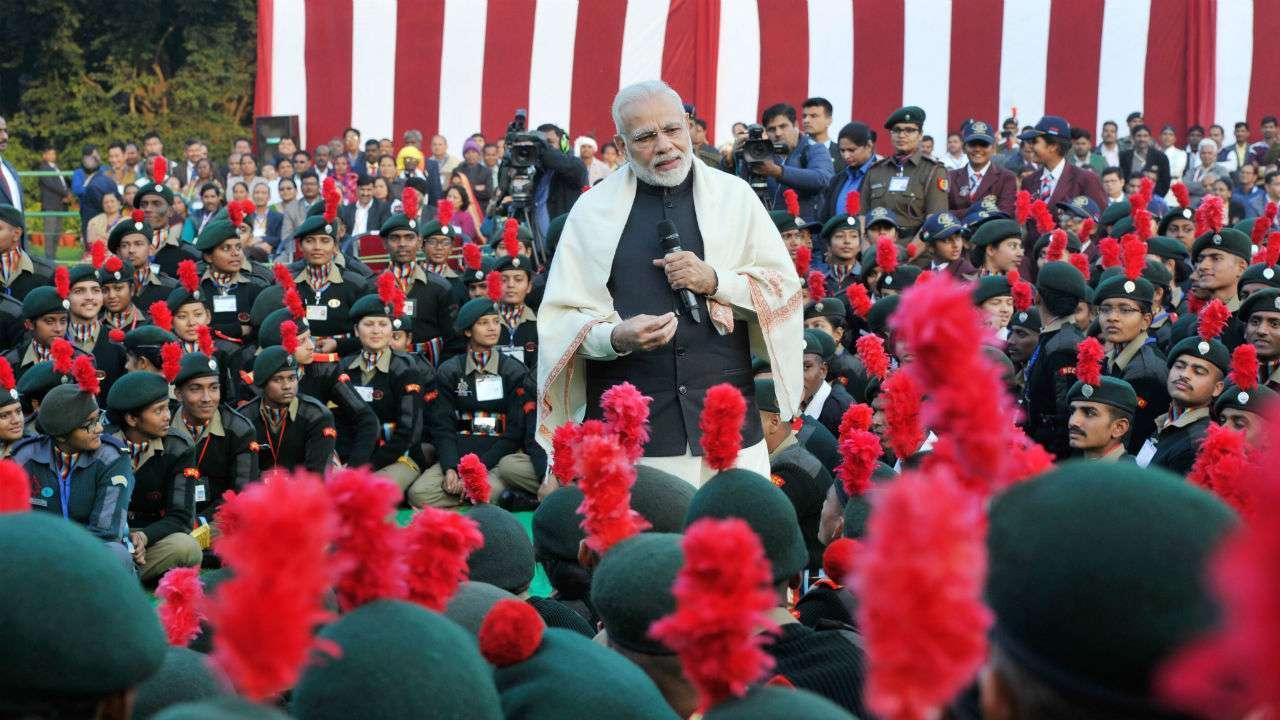 NCC कार्यक्रम में शामिल हुए पीएम मोदी, कहा,'आपके प्रयासों से मजबूत होता है भरोसा'