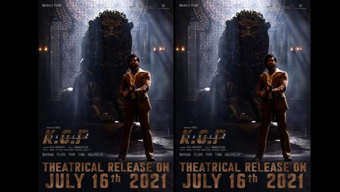 KGF Chapter 2: फिल्म की रिलीज डेट आई सामने, यश ने शेयर किया पोस्टर
