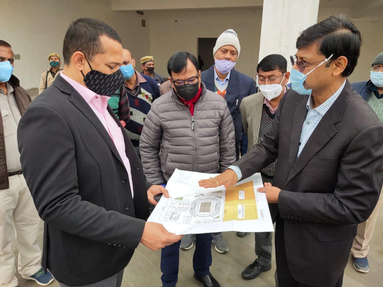 कानपुर कमिश्नर ने किया मल्टी स्पोर्ट्स स्टेडियम कॉम्प्लेक्स का निरीक्षण