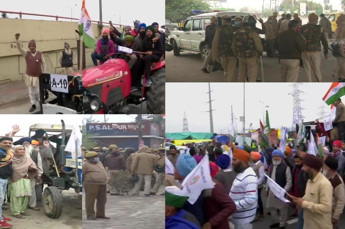 गाजीपुर बॉर्डर से किसान आज निकाल रहे ट्रैक्टर मार्च, भारी संख्या में सुरक्षा बल तैनात