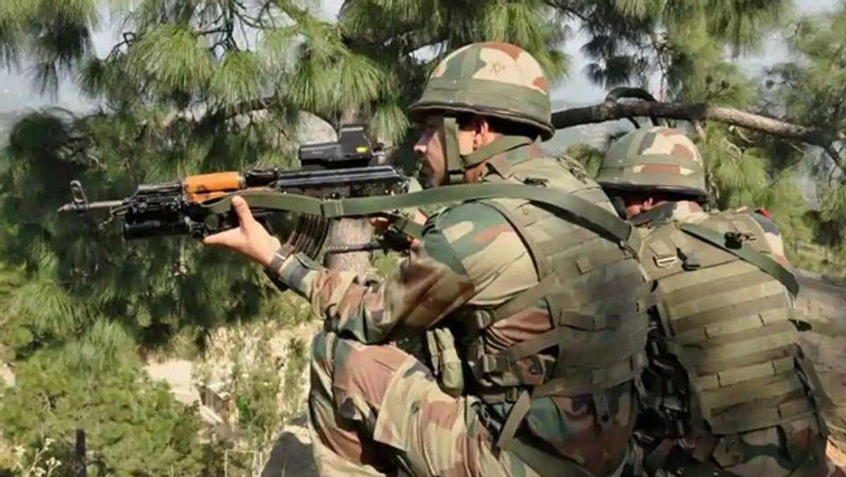 सेना के जवानों पर घात लगाकरआतंकवादियों द्वारा  हमला