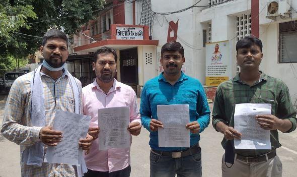 कानपुर- पुलिस भर्ती के अभ्यर्थियों ने डीएम को दिया राष्ट्रपति के नाम ज्ञापन