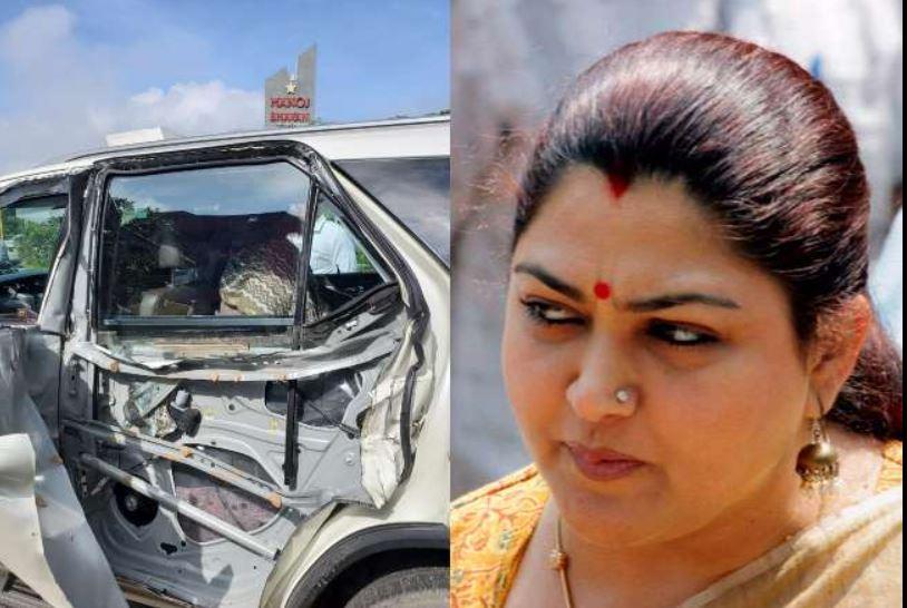 भाजपा नेता खुशबू सुंदर की कार दुर्घटनाग्रस्त, बाल-बाल बचीं