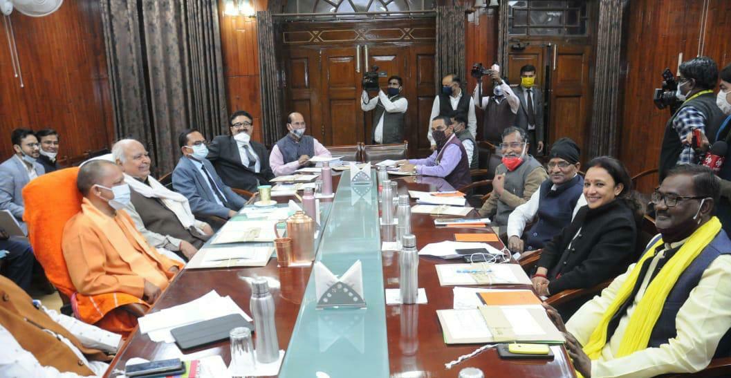 यूपी: बजट सत्र से पहले सर्वदलीय बैठक, सरकार को घेरने की तैयारी में विपक्ष