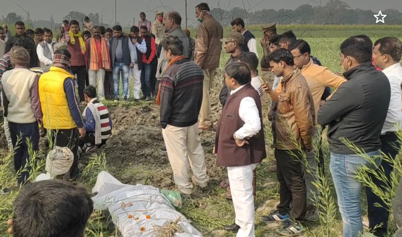 उन्नाव केस: कड़ी सुरक्षा के बीच दोनों लड़कियों का हुआ खेत में अंतिम संस्कार
