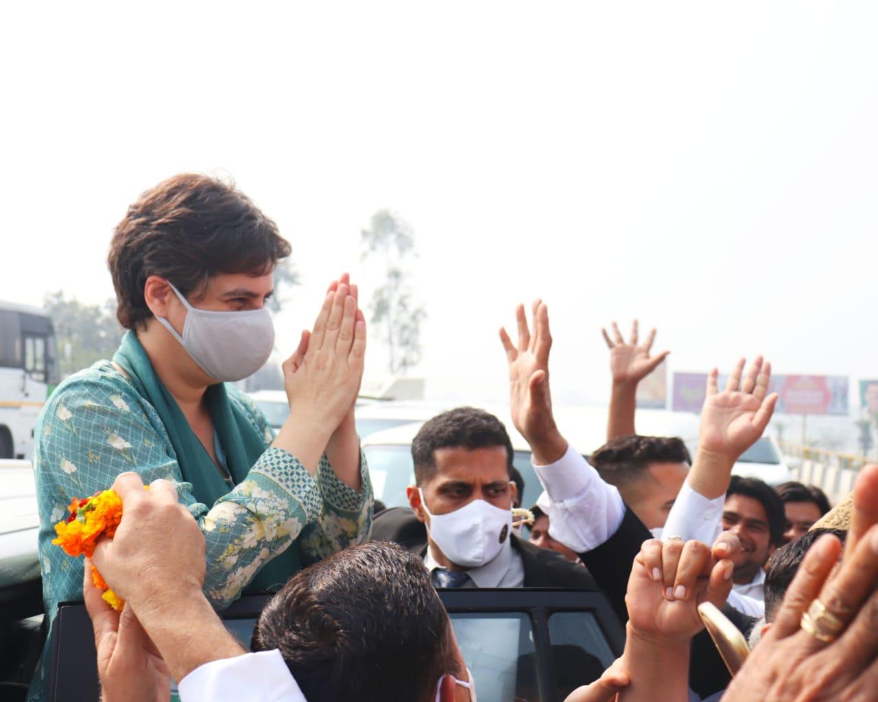 मुजफ्फरनगर के दौरे पर प्रियंका गांधी, किसानों को करेंगी संबोधित