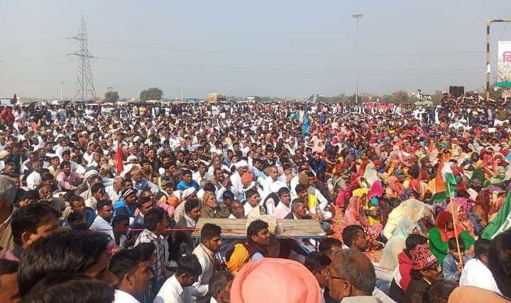 कृषि कानून के विरोध में किसानों ने किया चक्का जाम, विपक्ष ने किया समर्थन