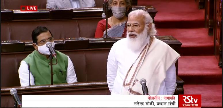 संसद में विपक्षियों पर गरजे पीएम मोदी,डेरेक ओ ब्रायन, बाजवा पर कसा तंज