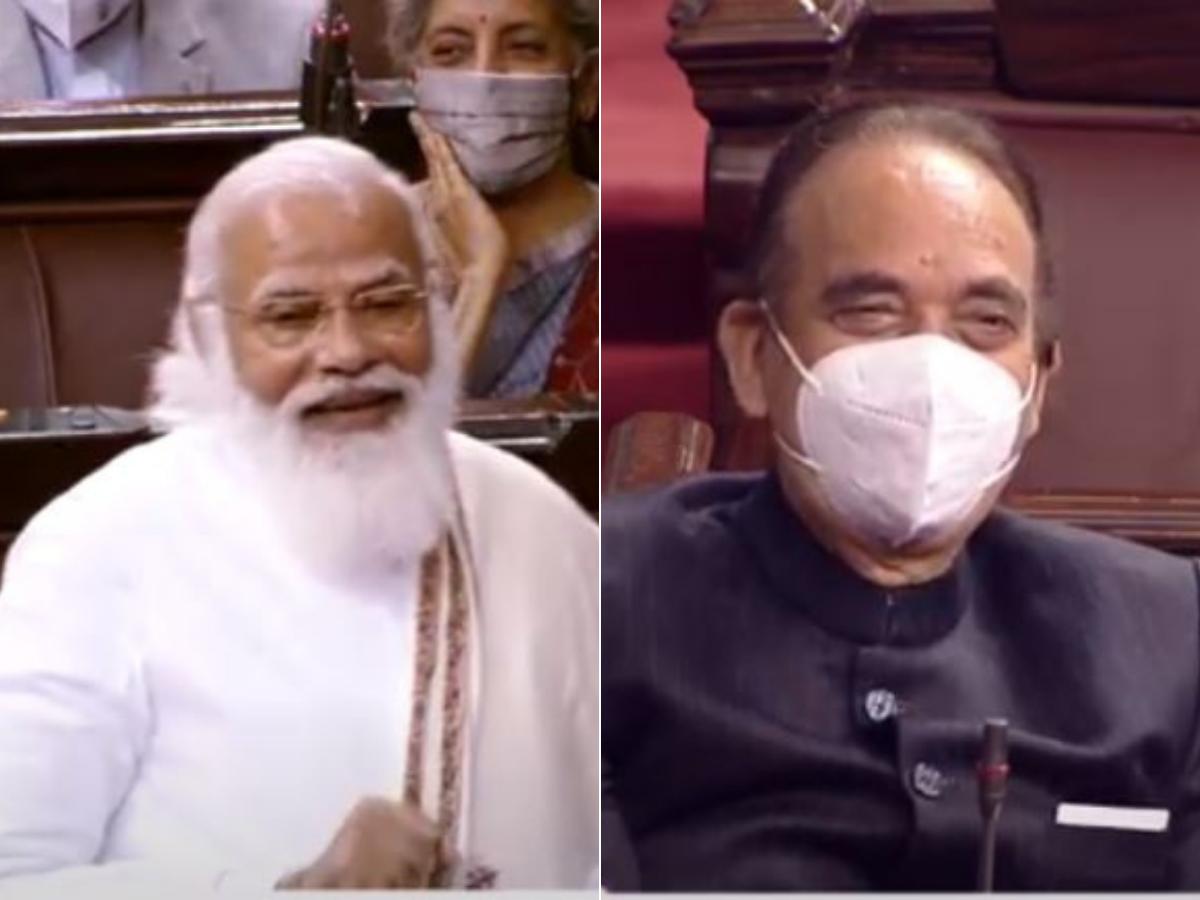 पीएम मोदी ने संसद में की विपक्ष के नेता गुलाम नबी आजाद की तारीफ