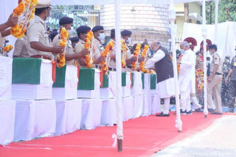 जगदलपुर: केंद्रीय गृह मंत्री अमित शाह ने नक्सली एनकाउंटर में शहीद हुए जवानों को दी श्रद्धांजलि