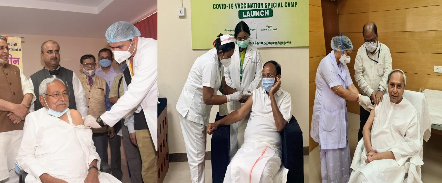 पीएम मोदी के बाद कई नेताओं ने लगवाई कोरोना वैक्सीन