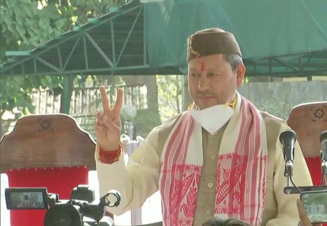 तीरथ सिंह रावत ने ली उत्तराखंड के मुख्यमंत्री पद की शपथ