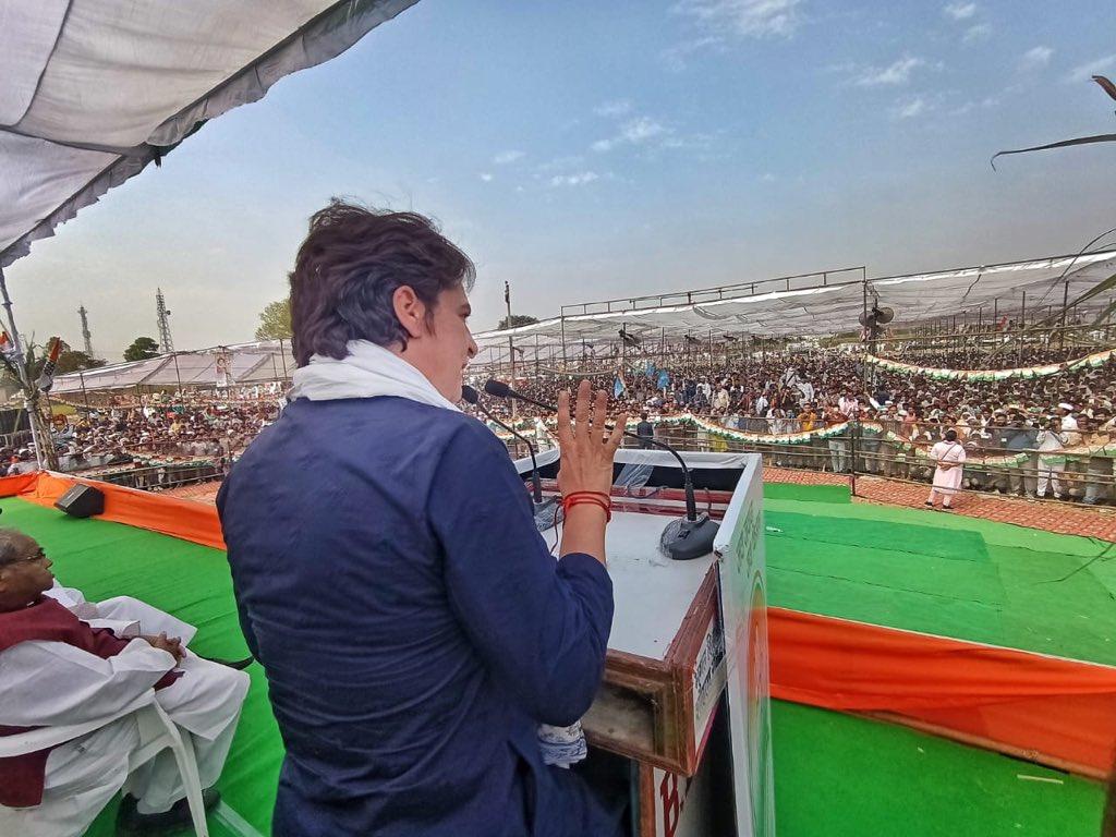 कांग्रेस महासचिव प्रियंका गांधी का योगी सरकार पर वार - विज्ञापन की सरकार, झूठा सारा प्रचार