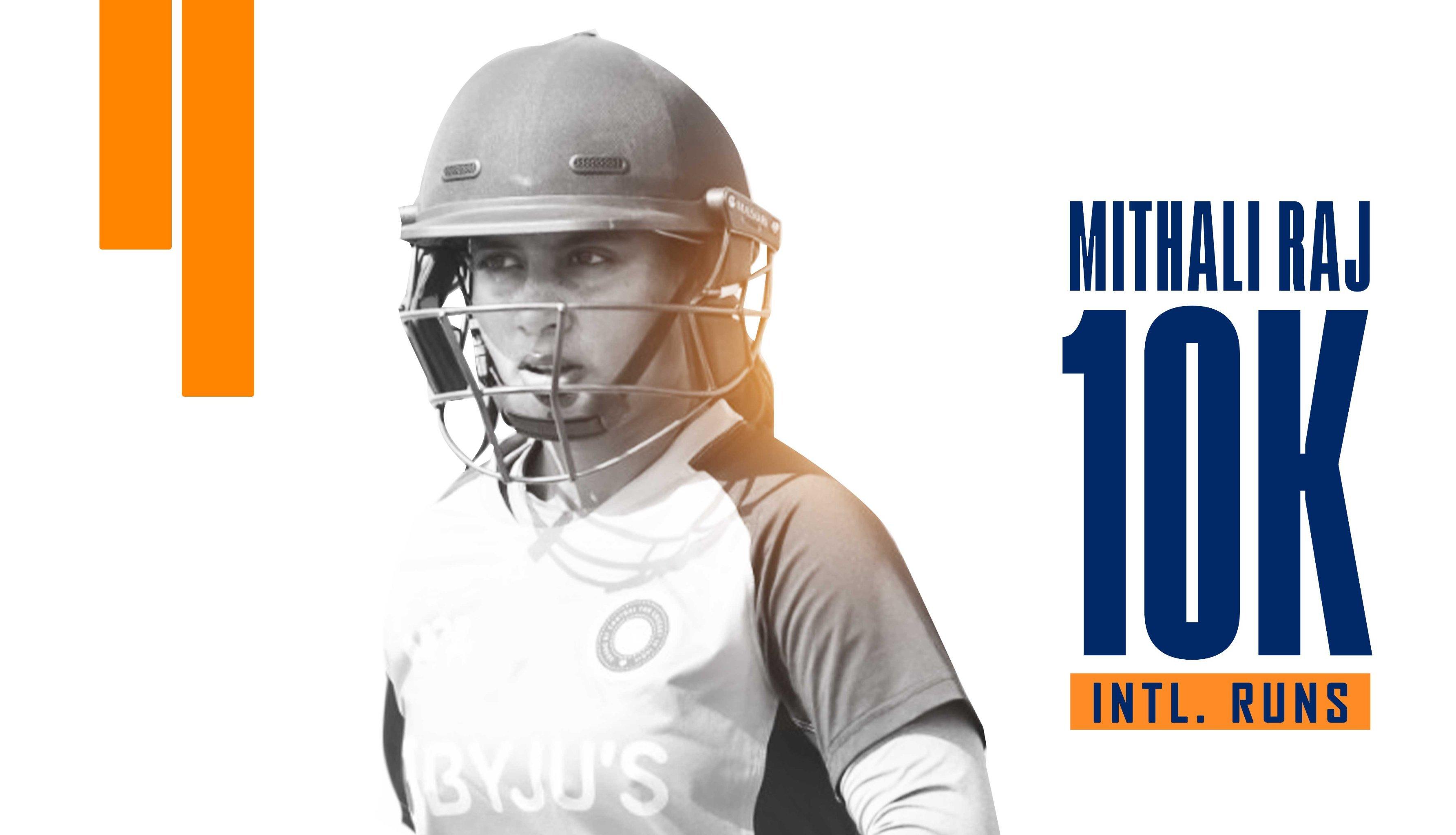 मिताली राज ने रचा इतिहास, अंतरराष्ट्रीय क्रिकेट में 10,000 रन पूरे करने वाली पहली भारतीय महिला क्रिकेटर बनीं
