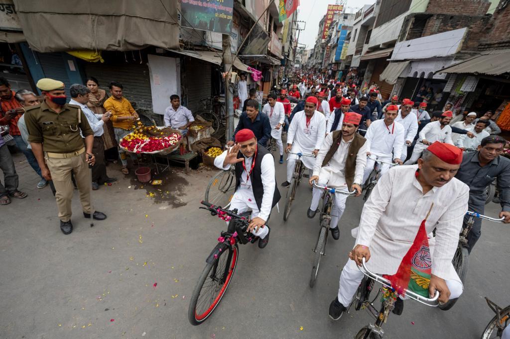 रामपुर साइकिल यात्रा: मुरादाबाद की घटना पर बोले अखिलेश, मुझ पर हमले की साजिश थी