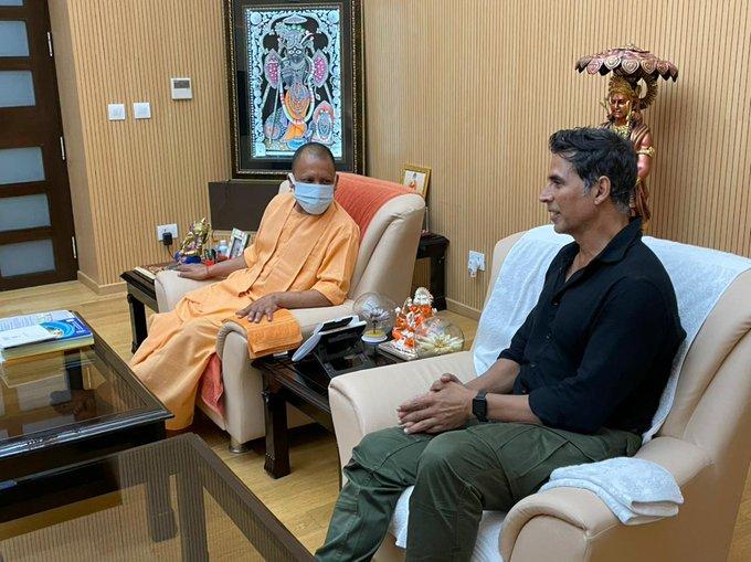 अक्षय कुमार ने की सीएम योगी से मुलाकात, रामसेतु फिल्म को लेकर हुई चर्चा
