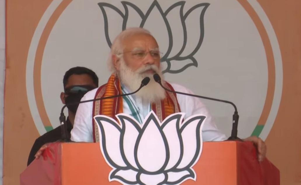 पं.बंगाल चुनाव: खड़गपुर में पीएम मोदी ने चुनावी सभा को किया संबोधित कहा- एक मौका दें मिटा देंगे 70 साल की बर्बादी