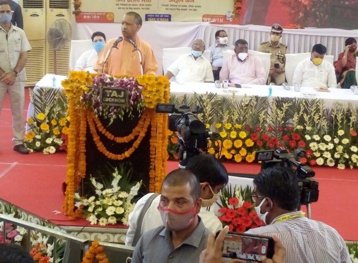 सीतापुर में बोले सीएम योगी आदित्यनाथ,'पीएम मोदी का सपना 2025 तक टीबी मुक्त हो देश अपना'