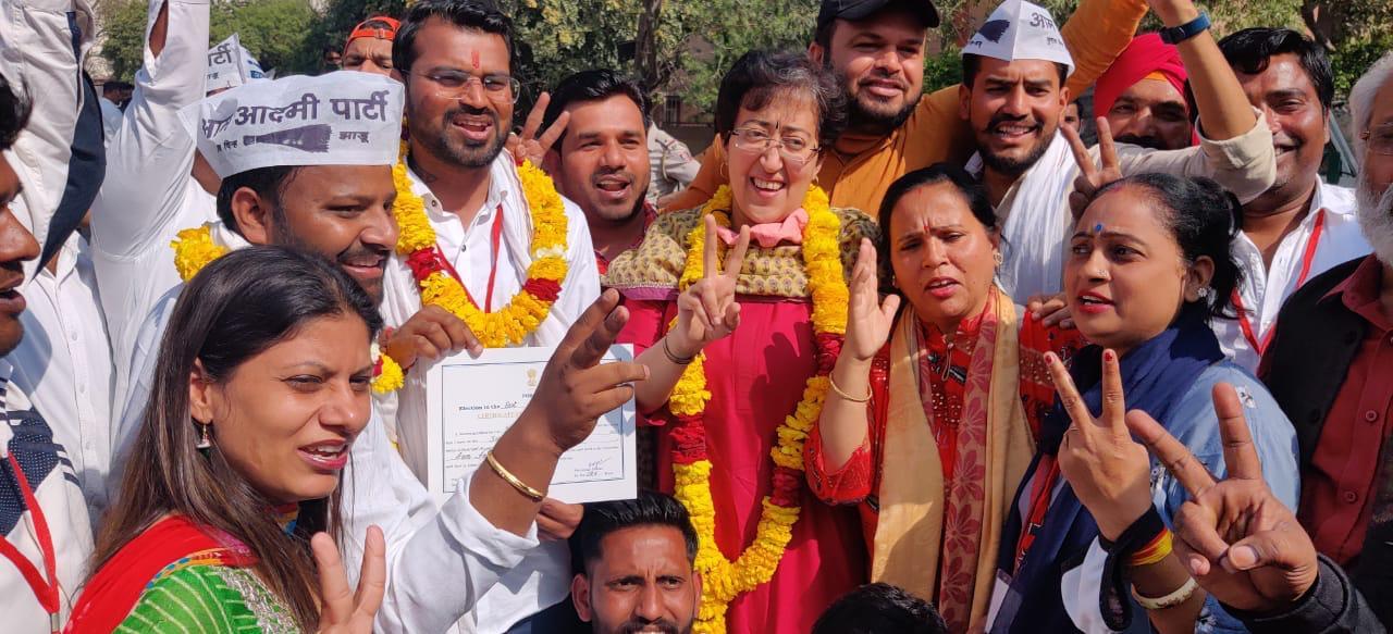 दिल्ली MCD उपचुनाव : BJP का सूपड़ा साफ, AAP ने जीतीं चार सीट, कांग्रेस के खातें में 1 सीट