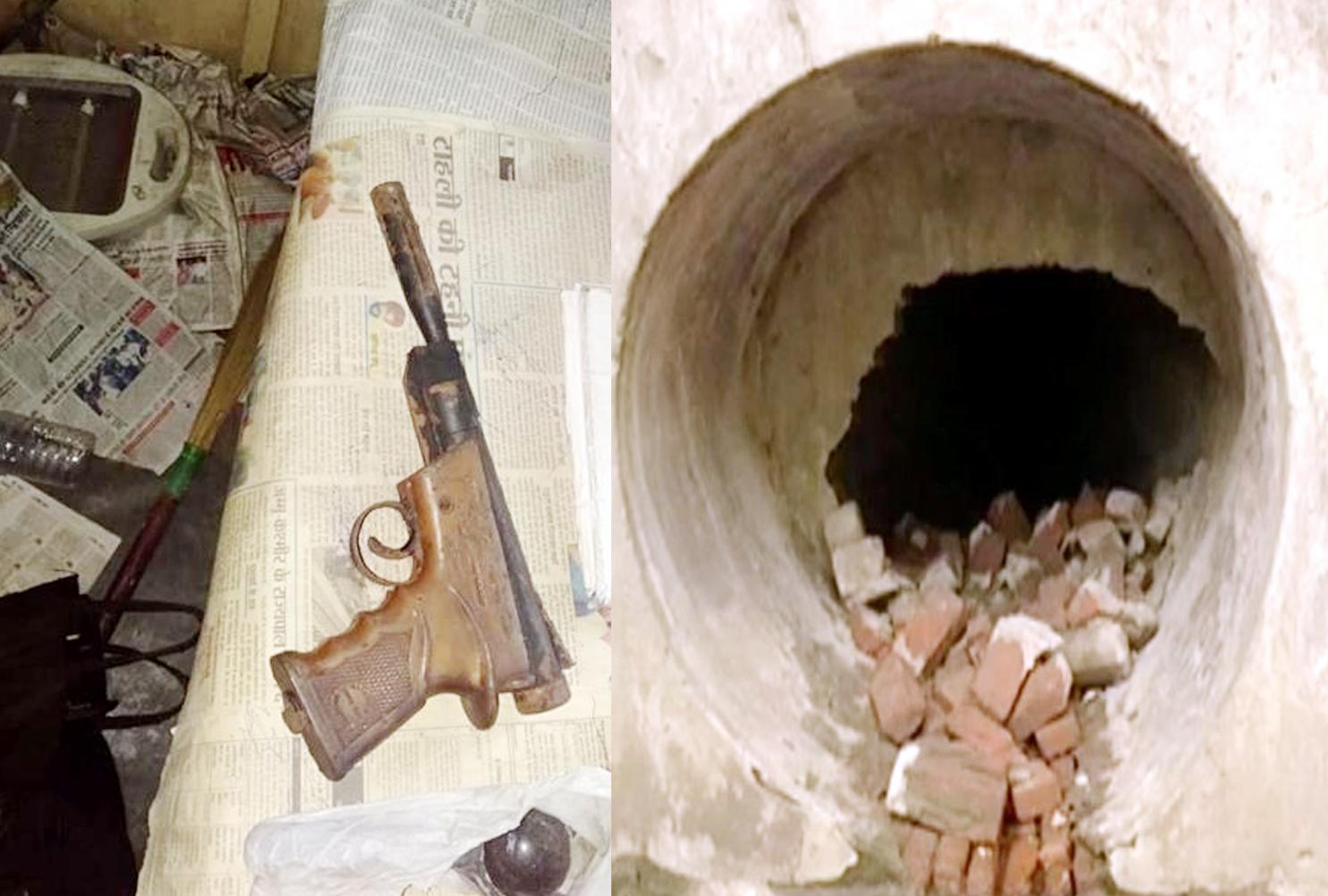 PHOTOS: शहर के अंदर बंकर देख 'चंडीगढ़वाले हैरान', अंदर मिली छर्रे वाली गन और किताबें