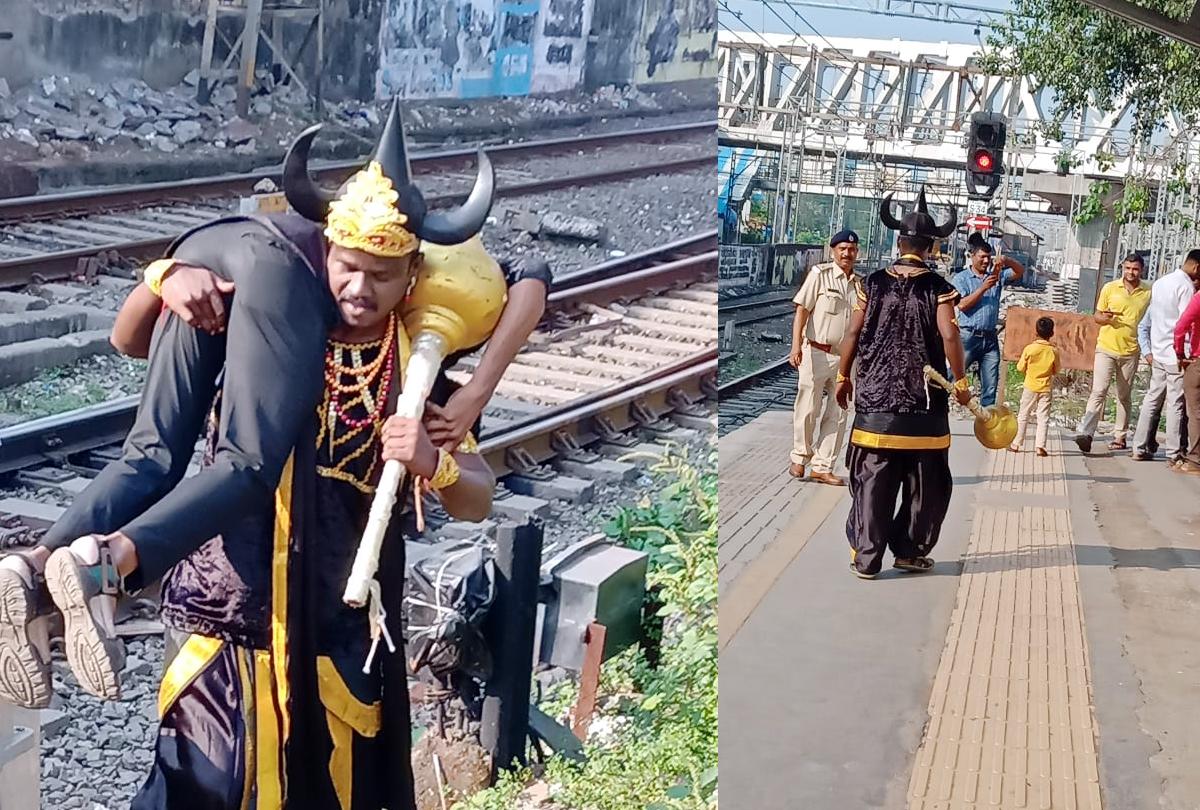 रेलवे के 'यमराज', सोशल मीडिया पर तस्वीरें वायरल