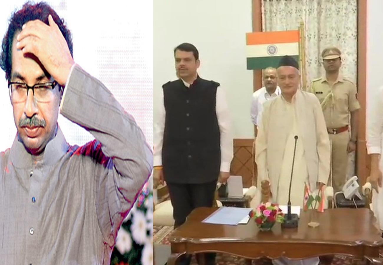 अचानक बदली 'महाराष्ट्र की सियासत', भाजपा-एनसीपी ने बनाई सरकार, देवेंद्र फणनवीस ने ली मुख्यमंत्री पद की शपथ