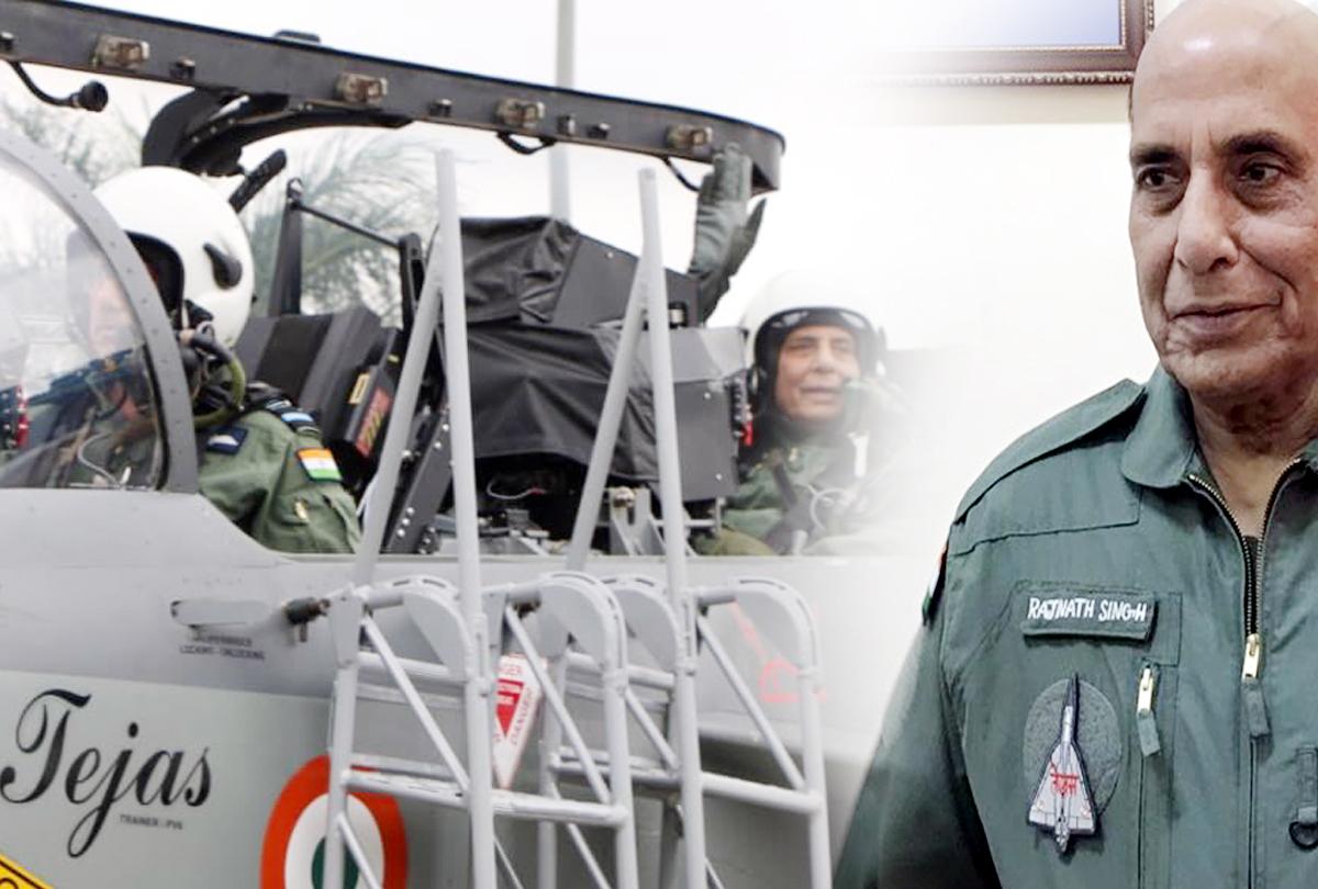 राजनाथ सिंह ने हवा में कुछ देर तक खुद उड़ाया 'तेजस', रक्षामंत्री ने गिनाईं विमान की 10 बड़ी खूबियां